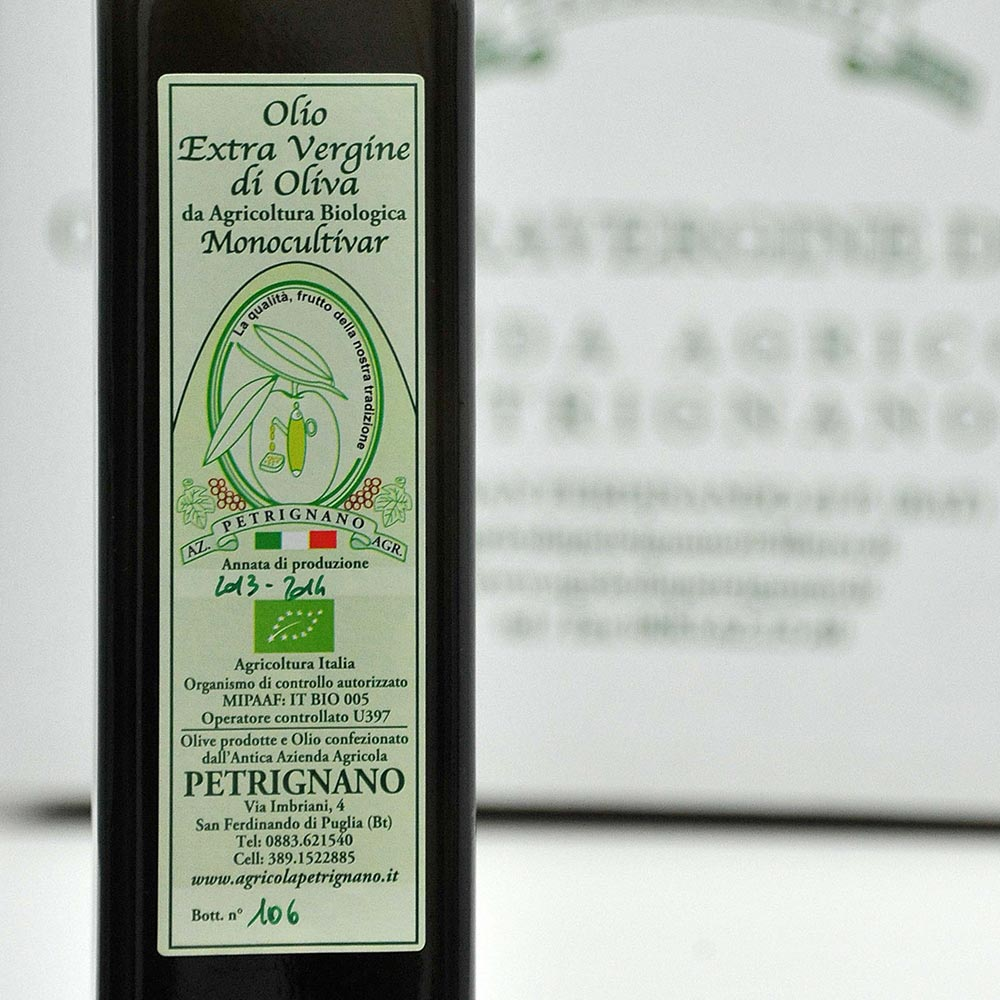 olio biologico intenso label